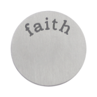 Stainless Steel Living Locket Faceplate - faith