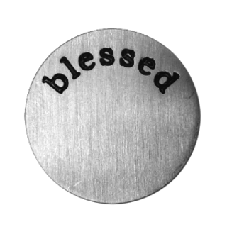 Stainless Steel Living Locket Faceplate - blessed