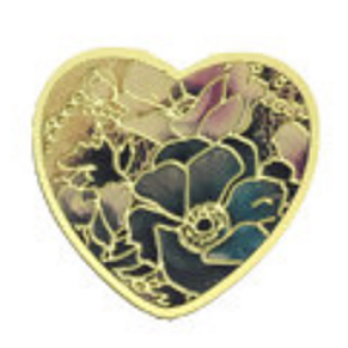 Gold Plated Floral Heart
