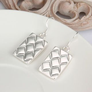 Silver Retro Drop Earrings