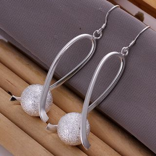 Oversized Silver Sparkly Earrings
