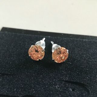 Stunning Champagne Crystal Studs