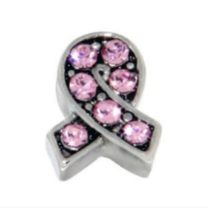 Pink Crystal Breast Cancer Awareness Ribbon