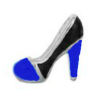High Heel - Blue & Black