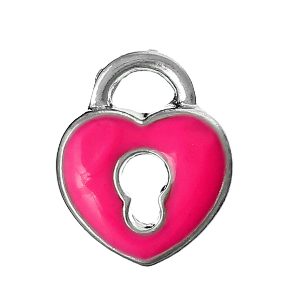 Magenta Heart with Lock