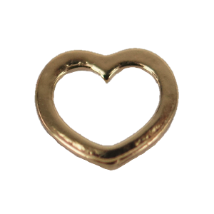 Gold Heart Frame Charm