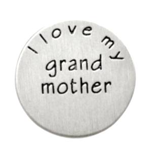 Stainless Steel Living Locket Faceplate - I love my grandmother