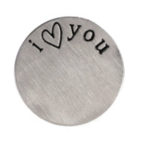 Stainless Steel Living Locket Faceplate - i <heart> you