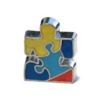Autism Awareness Puzzle Piece Charm