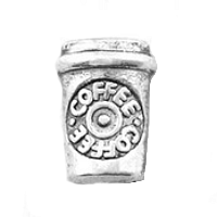 Silver Starbucks Coffee Cup