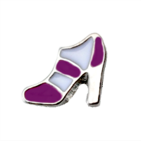High Heel - Purple & White