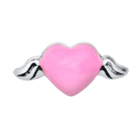 Pink Heart Angel Wings