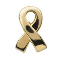 Gold Childhood Cancer Awareness Ribbon Charm