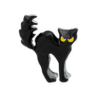 Arched Black Cat Charm