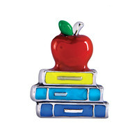 Apple & Books Charm