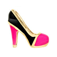 Gold & Pink High Heel