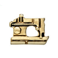 Vintage Gold Sewing Machine Charm