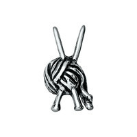 Silver Knitting Needles & Wool Charm
