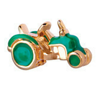 Gold & Green Tractor Charm
