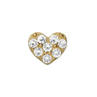 Mini Gold Crystal Heart