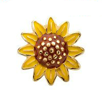 Golden Sunflower Charm