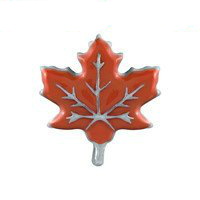 Orange Maple Leaf Charm