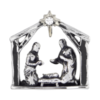 Christmas Nativity Scene Charm