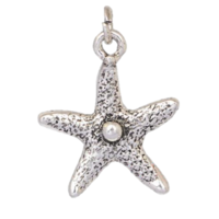 Silver Starfish Dangle Charm