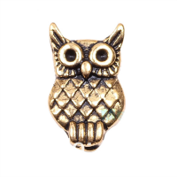 Antique Gold Owl Charm
