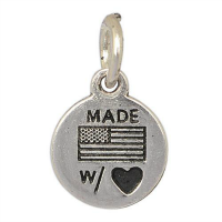 Silver Made With Love Charm