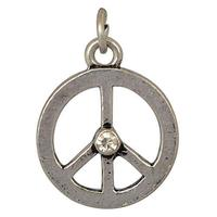 Silver Peace Symbol Dangle Charm