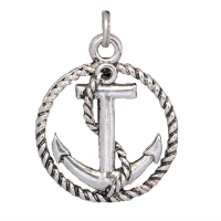Silver Nautical Anchor Dangle Charm