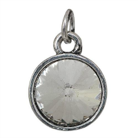 Silver Birthstone Charm - April