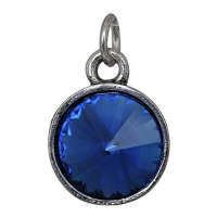 Silver Birthstone Charm - September