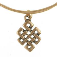 Gold Russian Endless Knot Charm