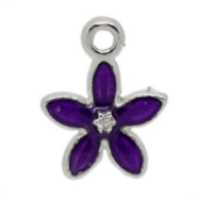 Purple Easter Lily Charm
