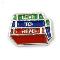 Love To Read Books Charm