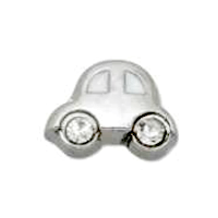 VW Beetle Car Charm with Crystal Wheels
