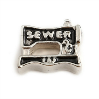 Antique Silver Vintage Sewing Machine Charm