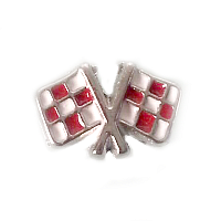 Red Racing Car Flag Charm