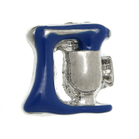 Silver & Blue Cake Mixer Charm
