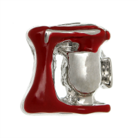 Silver & Red Cake Mixer Charm