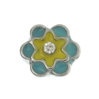 Blue & Yellow Flower Charm