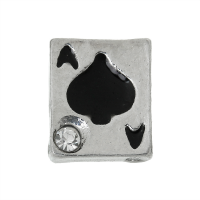 Ace of Spades Charm with Crystal Accent
