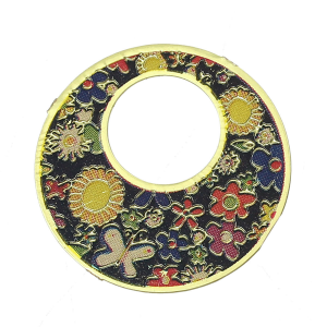 Gold Plated Floral Disc #1