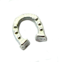 Silver Good Luck Horseshoe Charm