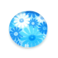Blue & White Floral Dome Charm