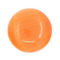 Cat's Eye Dome Charm - Orange