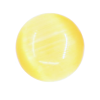 Cat's Eye Dome Charm - Lemon Yellow