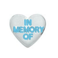 In Memory of Heart Charm - Blue